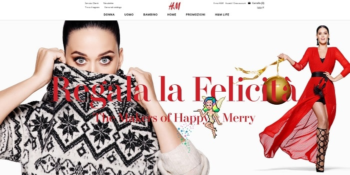 katy perry natale hm 2015