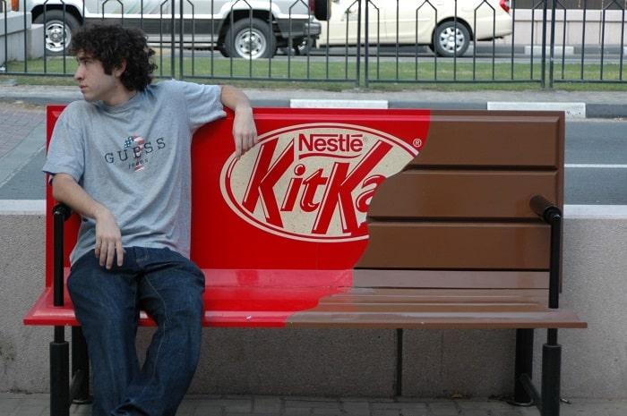Kit-Kat guerrilla marketing