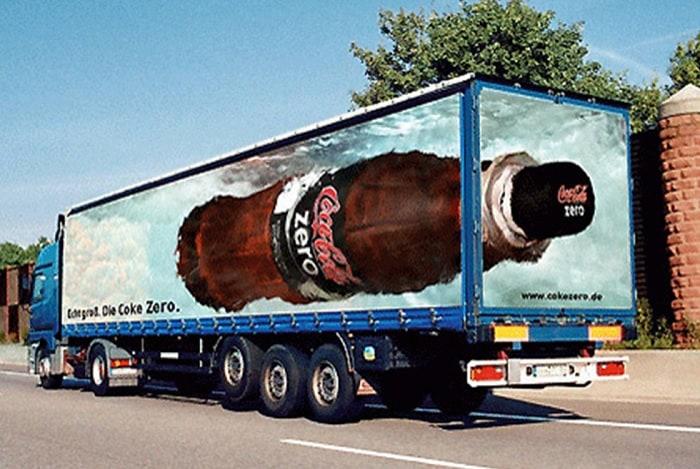 coca cola camion guerrilla marketing