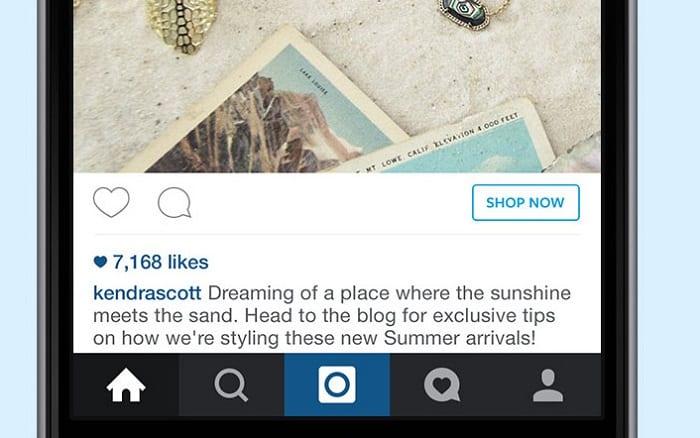 instagram shop now