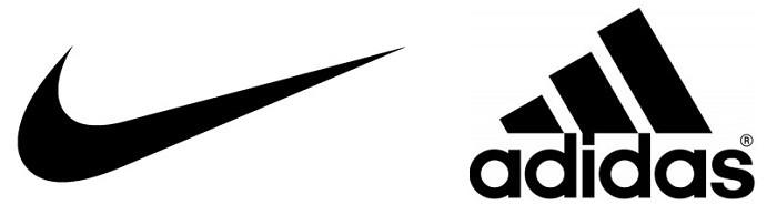 Logo nike e Adidas