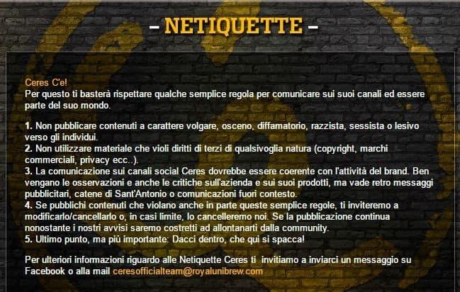 Netiquette sui social network