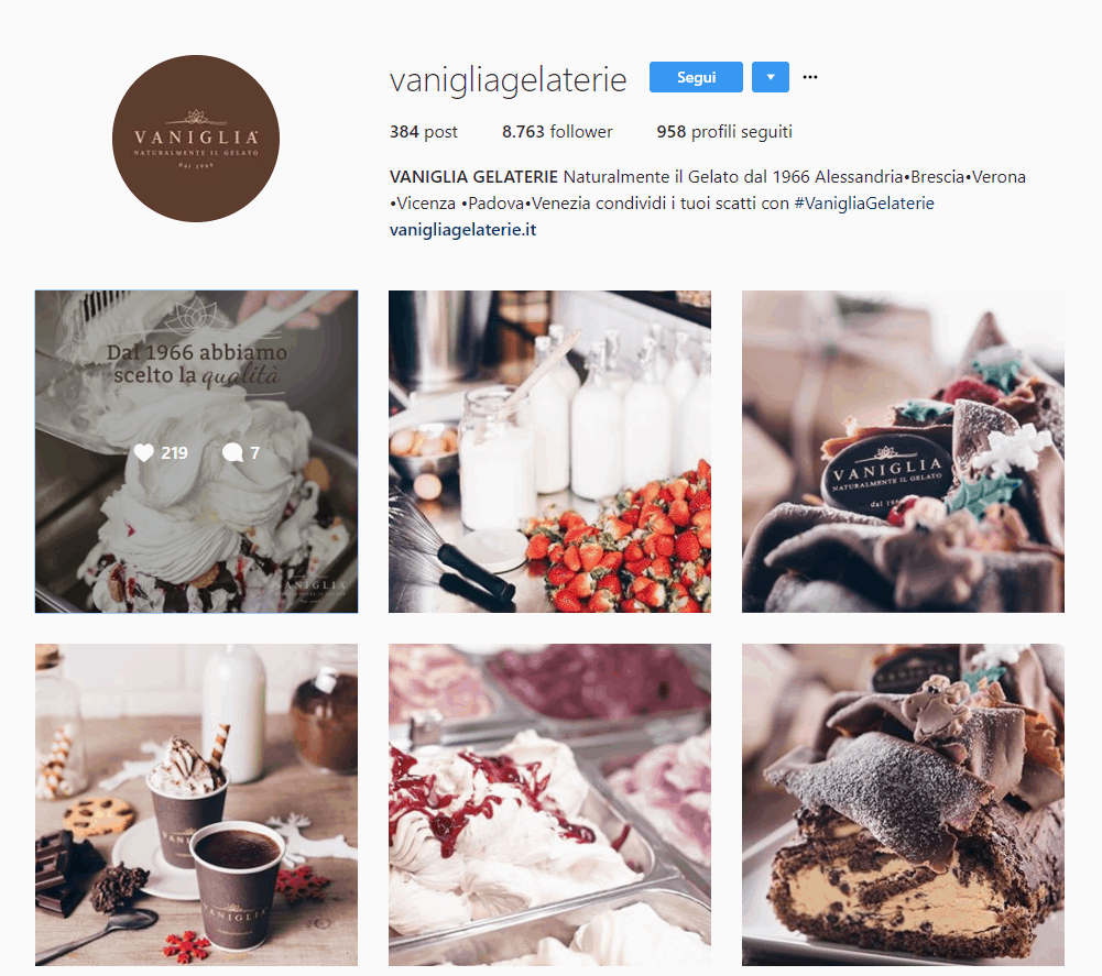 vanigliagelaterie account IG